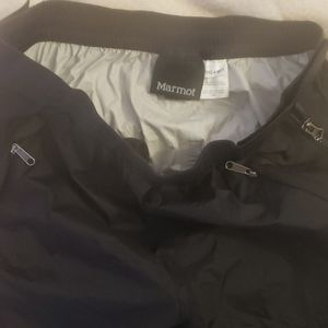 Marmot 100% waterproof shell pants - full side zip